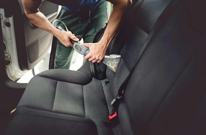 zabrzudzenia organiczne wewnątrz auta