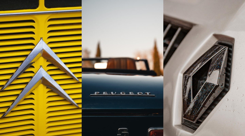Peugeot, Citroen, Renault - logotypy